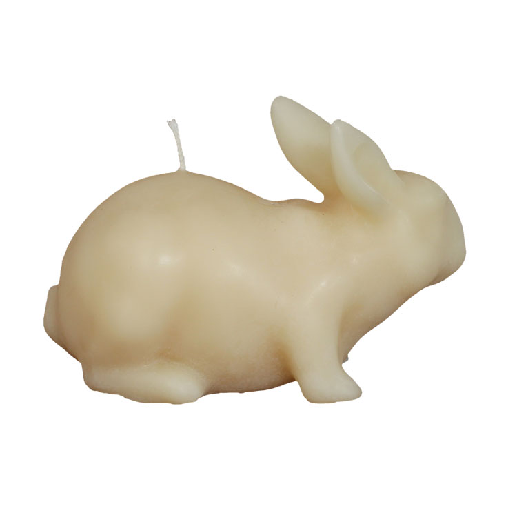Large Rabbit - pure beeswax candle