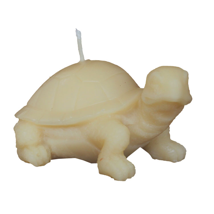 Esiotrot - large tortoise - pure beeswax candle