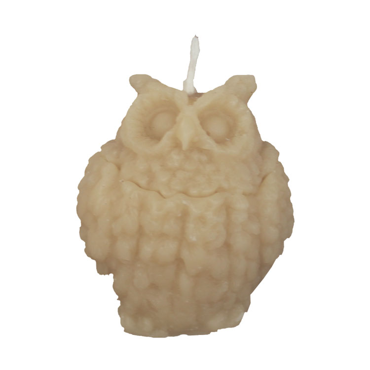 Wise And All Seeing Owl - pure beeswax candle