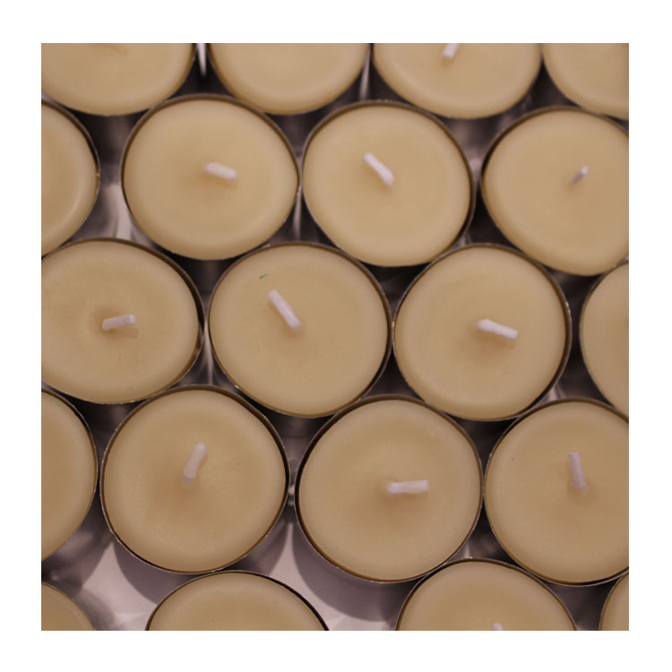 25 large 8-9hr pure beeswax tealights ~ 225hrs of light
