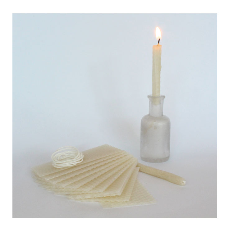DIY Birthday Candle Kit - natural beeswax