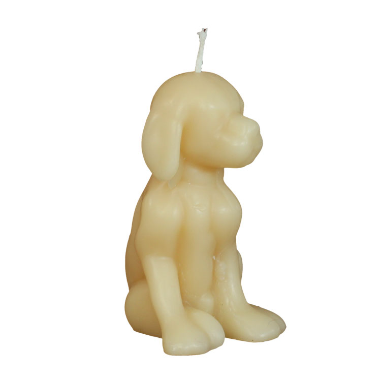 Dog - loving-, loyal-& listening friend - pure beeswax candle