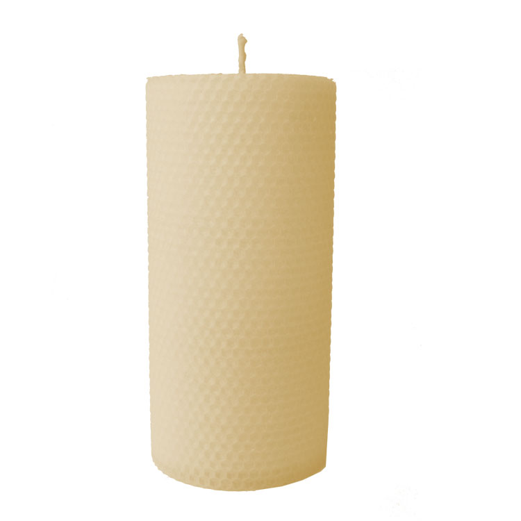 IN COLOUR - Metta - 20cm x 9cmØ - hand rolled beeswax candle - Click Image to Close