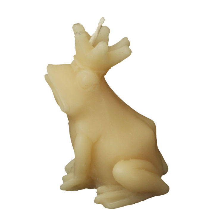 Frog King - pure beeswax candle