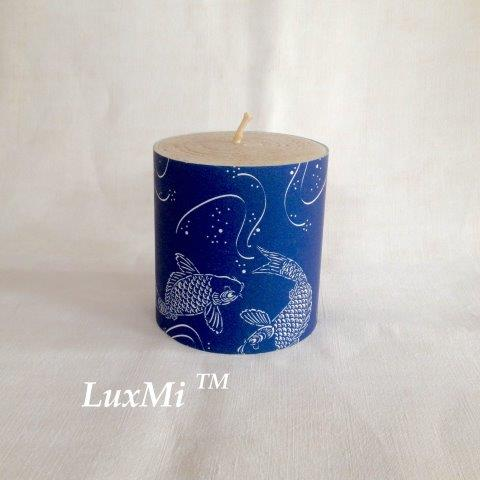 Clarity In Stillness - 10cm x 9cmØ, hand rolled beeswax candle
