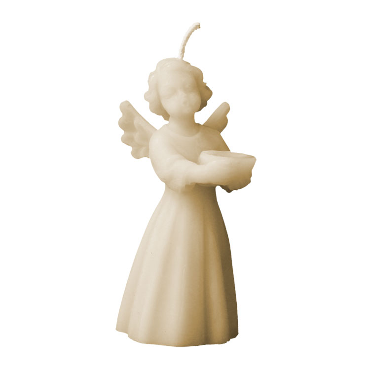 Angel with Offering Bowl - pure beeswax candle