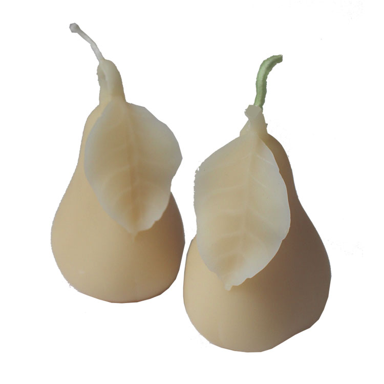 Pair of Golden Pears - pure beeswax candles