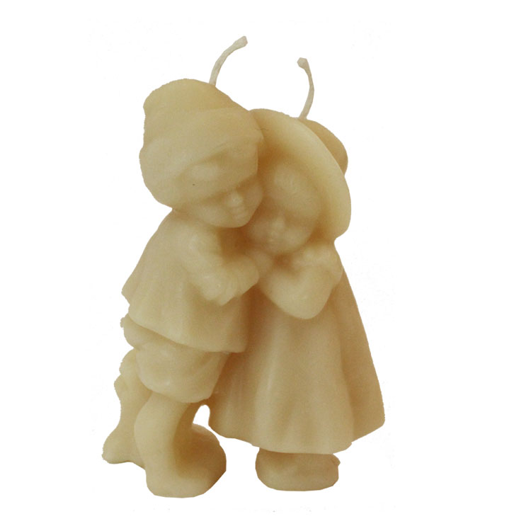 Hansel & Gretel - 2 wick pure beeswax candle