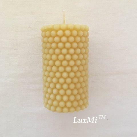 Pillar of Pearls - pure beeswax candle