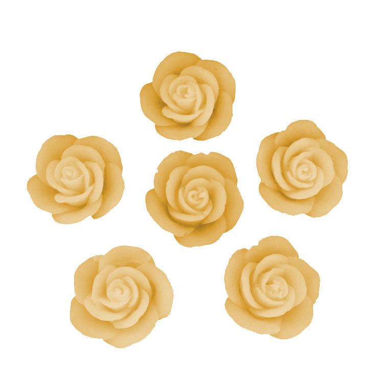 Six Small Roses - pure beeswax -10% - Click Image to Close