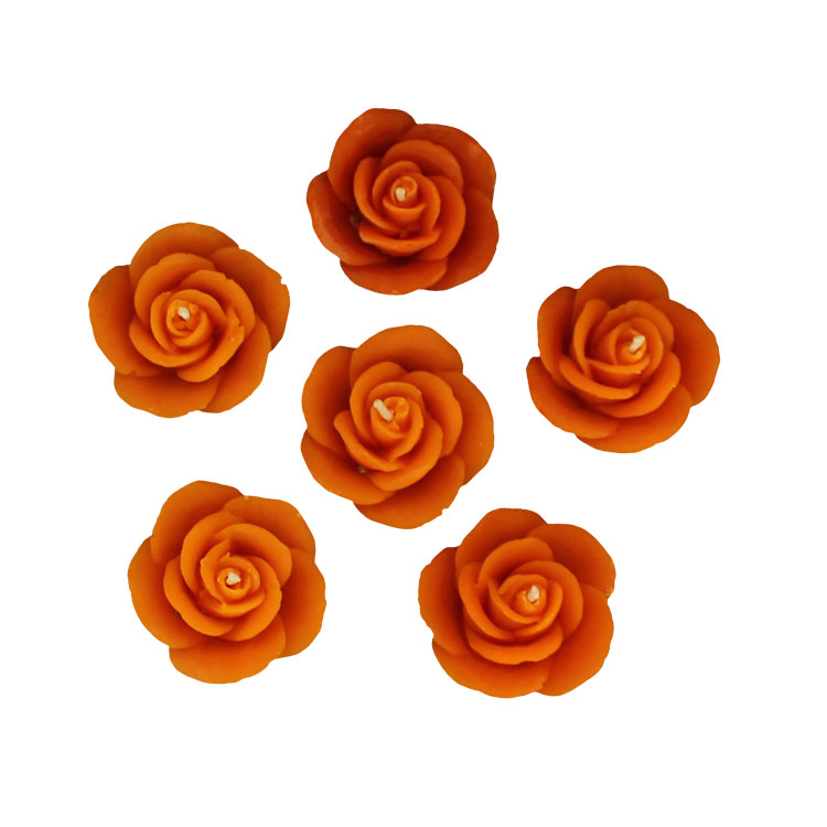 Six Small Roses - pure beeswax -10%