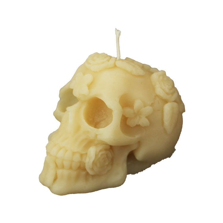 Dia De Los Muertos - pure beeswax candle - Click Image to Close