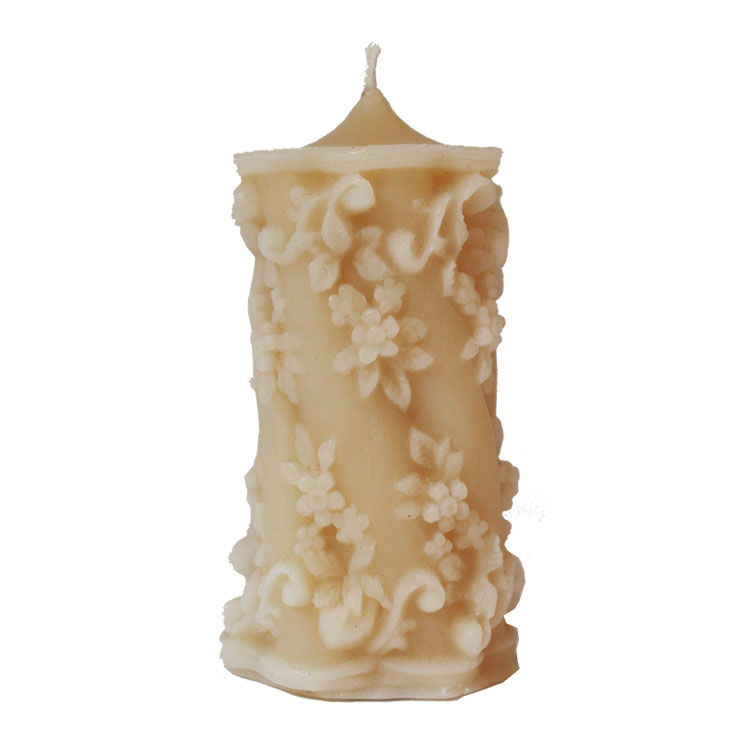 Rambling Rose - pure beeswax pillar