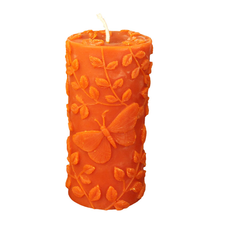 Butterfly - hand poured pure beeswax candle