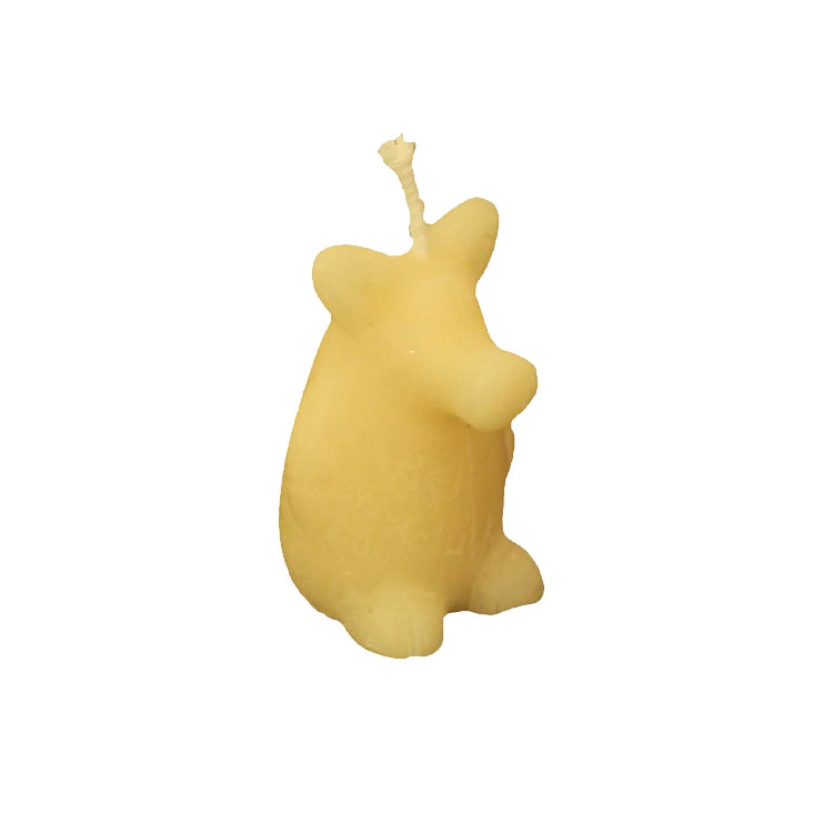 Good Luck - tiny pig made of pure beeswax