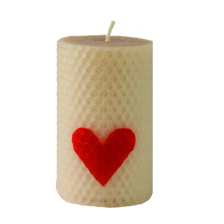 Juliet - hand rolled pure beeswax candle