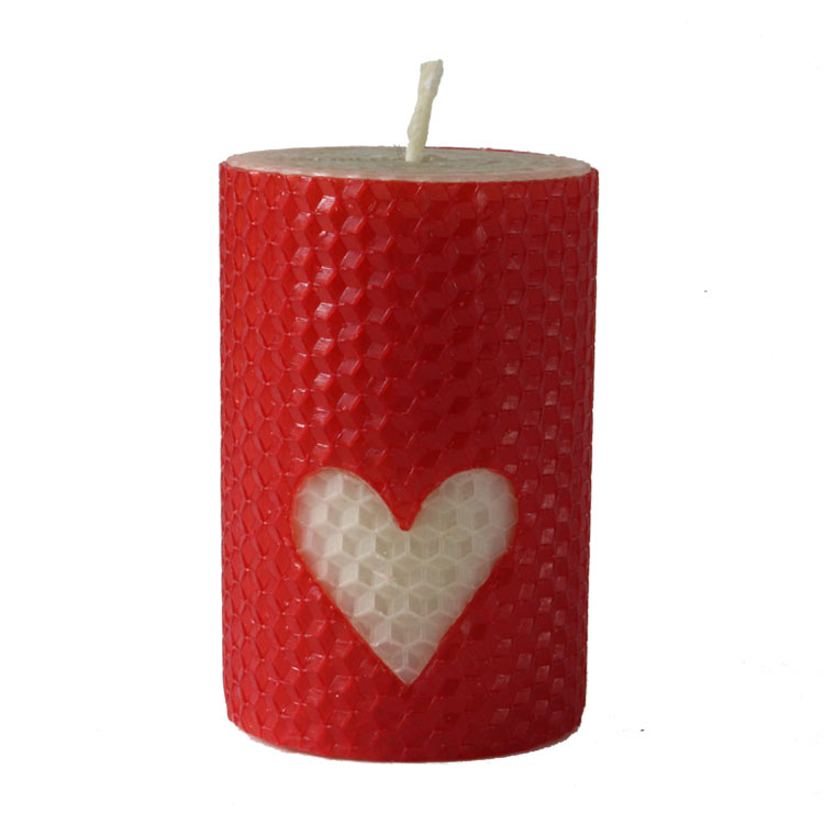 Romeo - hand rolled pure beeswax candle