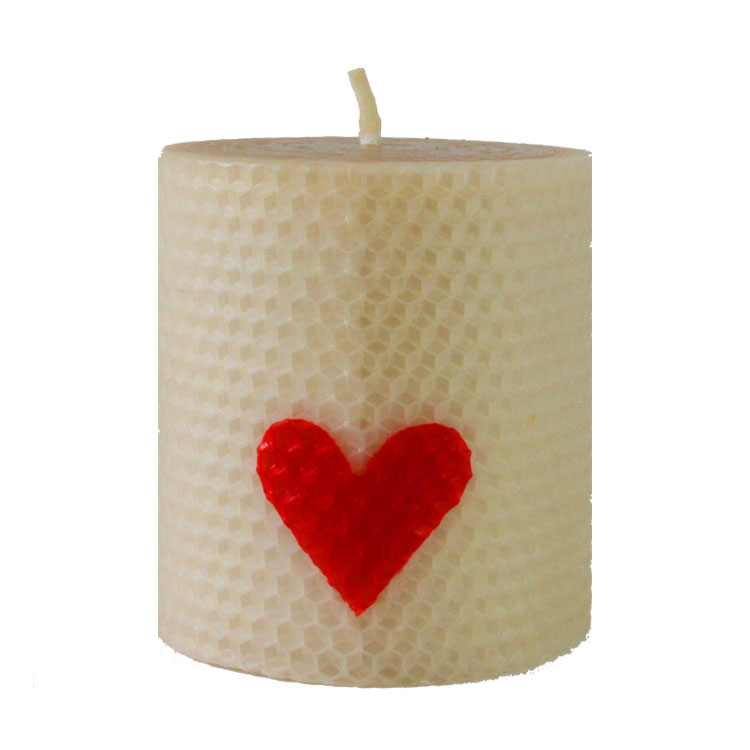 Delila - hand rolled pure beeswax candle