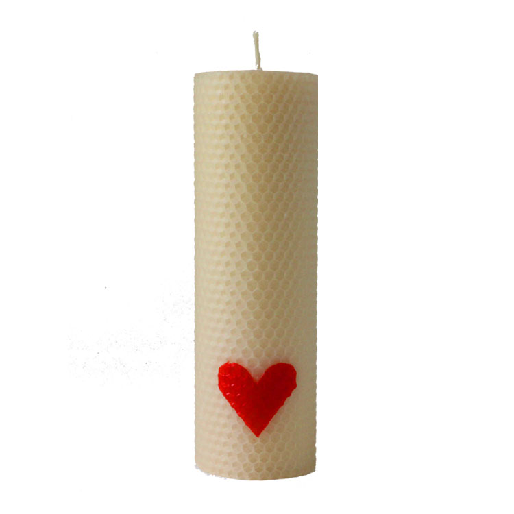 Isolde - hand rolled pure beeswax candle