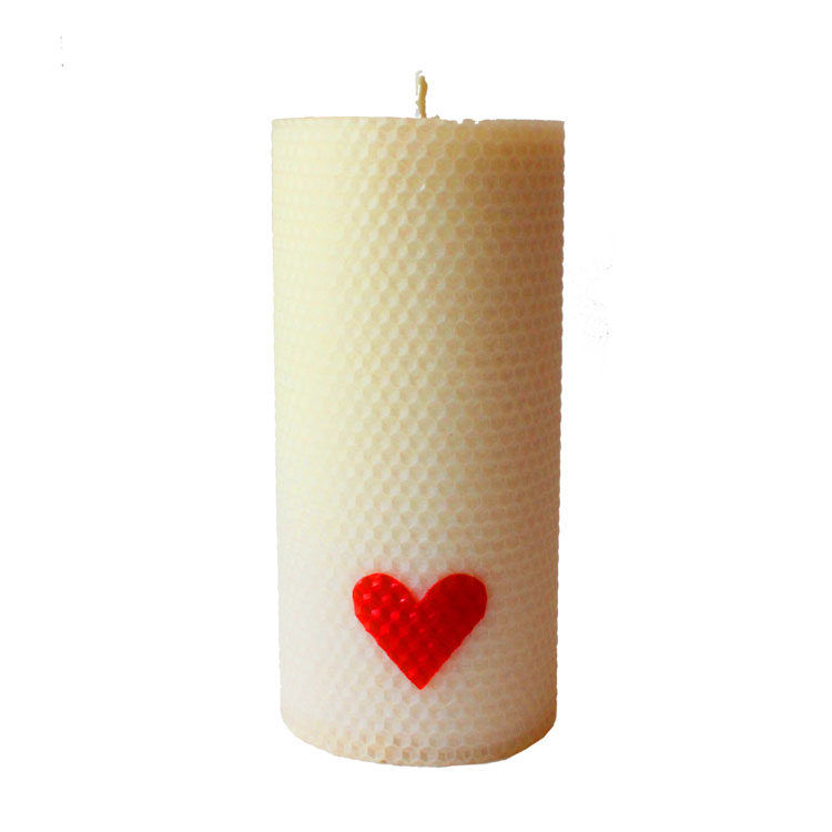 Daphne - hand rolled pure beeswax candle