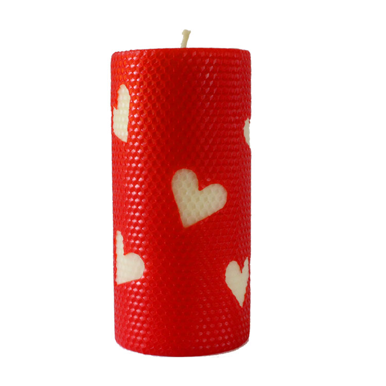 Adonis - hand rolled pure beeswax candle