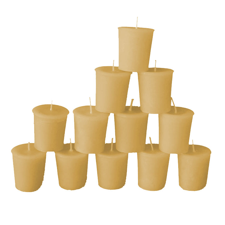 24 Round Beeswax Votive Refills -15% - Click Image to Close